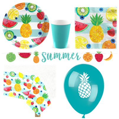 Tropical Fruit Party Pack - Deluxe Pack For 8