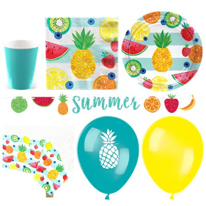Tropical Fruit Party Pack - Deluxe Pack For 16