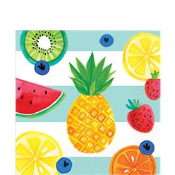 Fruit Salad Lunch Napkins - 33cm Paper Napkins