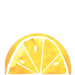 Fruit Salad Lemon Lunch Napkins - 33cm Die-Cut Paper Napkins