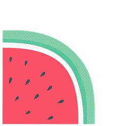 Fruit Salad Watermelon Lunch Napkins - 33cm Die-Cut Paper