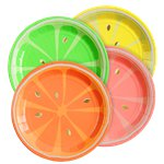 Neon Citrus Party Plates - 4 Assorted Colours - 18.5cm