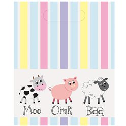 Farmyard Plastic Party Bags