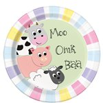 Farmyard Party Paper Plate - 23cm