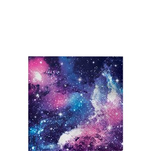 Galaxy Party Beverage Napkins - 25cm 2ply Paper