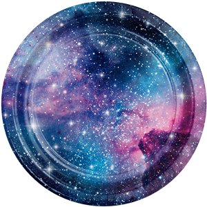 Galaxy Party Plates - 22cm Paper Plates