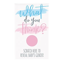What Do You Think Gender Reveal Scratch Card - Girl