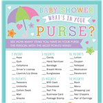 Baby Shower 'What's in Your Purse?' Game