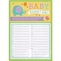 Baby Shower Alphabet Game