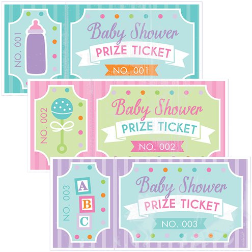 Baby Shower Prize Tickets Party Delights
