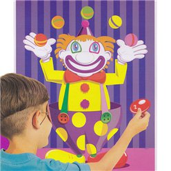 Pin the Nose on the Clown Party Game