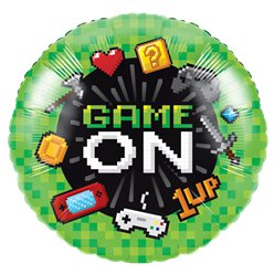 Game On Metallic Balloon - 18