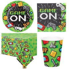 Game On Party Pack - Value Pack For 8