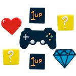 Game On Sugarcraft Toppers - Sugar Cake Decorations