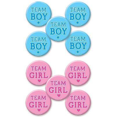 Gender Reveal Button Badges