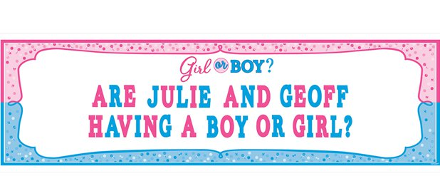 Gender Reveal Giant Banner