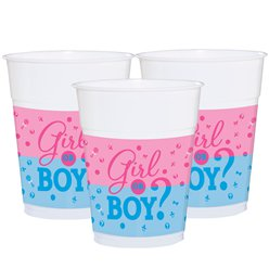 Gender Reveal Plastic Cups - 454ml