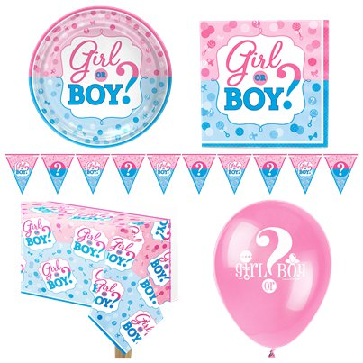 Gender Reveal Party Pack - Deluxe Pack For 8