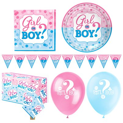 Gender Reveal Party Pack - Deluxe Pack For 16