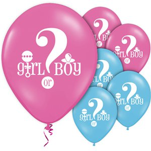Gender Reveal Pink & Blue Balloons - 12