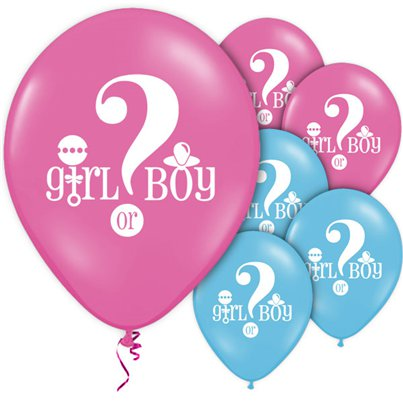 "Gender Reveal Pink & Blue Balloons - 12"" Latex"