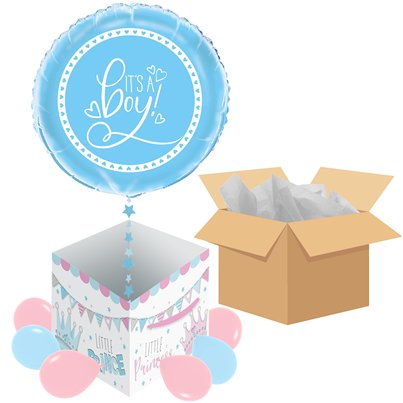 Gender Reveal Boy Balloon - Delivered Inflated