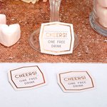 Geo Blush Wedding Drink Tokens