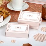 Geo Blush Wedding Cake Boxes