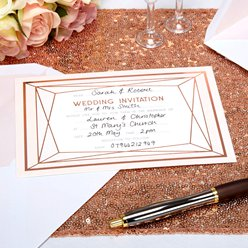 Geo Blush Wedding Invites - Party Invitation Cards