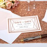 Geo Blush Wedding 'Save The Date' Cards