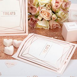 Geo Blush Wedding Sweet Bags