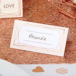 Wedding Place Cards.Geo Blush Wedding Invites Party Invitation Cards