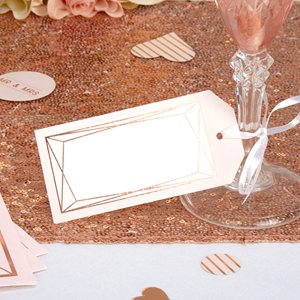 Geo Blush Wedding Large Luggage Tags