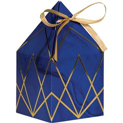 GEODE FAVOUR BOXES 8pk (Geode Navy & Gold)