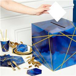 GEODE POST BOX 1 (Geode Navy & Gold)