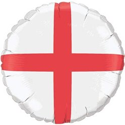 "St George's England Flag Balloon - 18"" Foil"