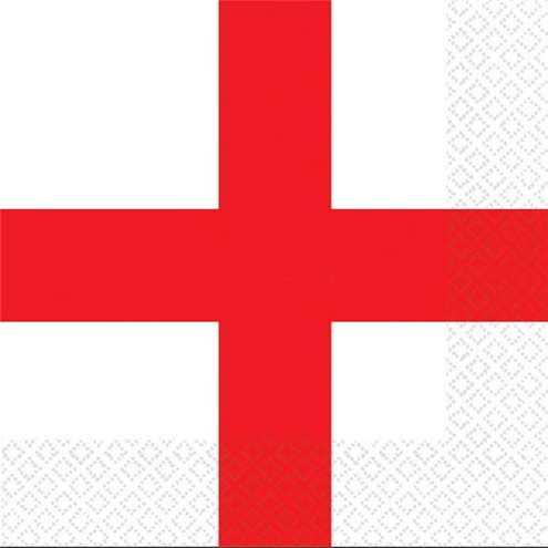 st george s england flag napkins 33cm party delights