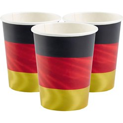 German Euro Cup Cups - 266ml Paper Party Cups