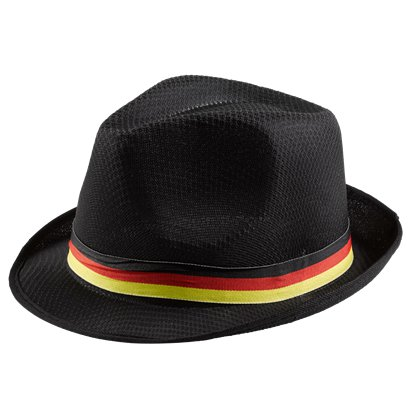 German Euro Cup Black Trilby Hat - International Party Supplies front