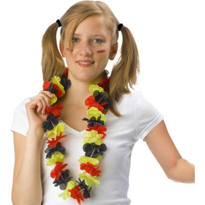 German Euro Cup Flower Lei - International Party Supplies front