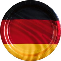 German Euro Cup Plates - 23cm Paper Party Plates