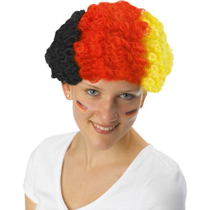 German Afro Wig - International Party Supplies front