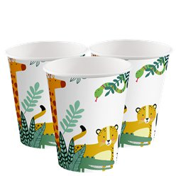 Get Wild Safari Party Paper Cups 250ml