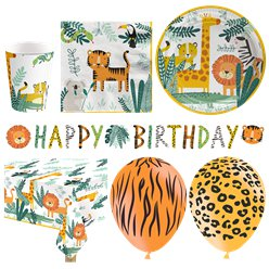 Get Wild Safari Party Deluxe Party Pack