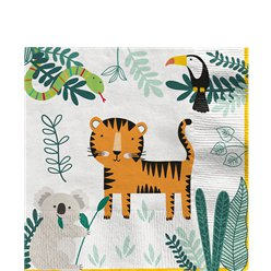 Get Wild Safari Party Lunch Napkins 33cm