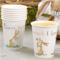 Guess How Much I Love You Cups - 227ml Paper Party Cups