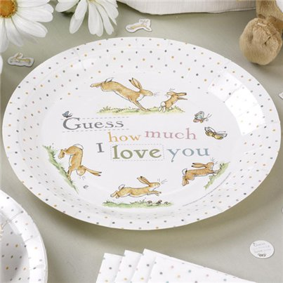 Guess How Much I Love You Plates - 23cm Paper Party Plates