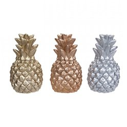 Metallic Pineapple Candle