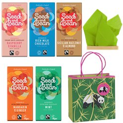Fairtrade Organic Choc Bars & Gift Bag