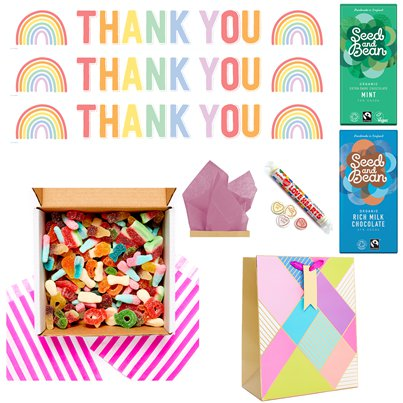 DIY Thank you Fizzy Sweets Care Package